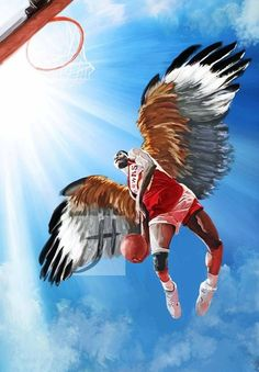 We all doubted the Atlanta Hawks and like this painting of Dominique Wilkins by Jennifer Hynds. They swooped in with wings prey to beat the Pacers in Game Basketball Leagues, Basketball Pictures, Basketball Teams, Dominique Wilkins, Basketball Photography, Atlanta Hawks, Great Pic, Nba Champions, World Of Sports