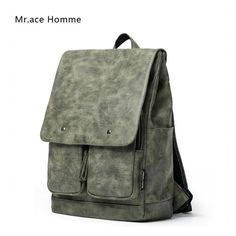 Luxury Backpack Women Men PU Leather Bag Fashion Vintage Designer Travel Backpacks for Teenage Girls School Bags mochila escolar