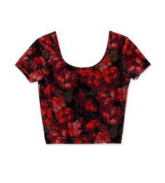 Floral Velvet Crop Top. #hotforholiday