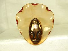 Vintage 40'S Elzac Copper Lucite Bonnet Head Victim OF Fashion PIN Brooch Button   eBay