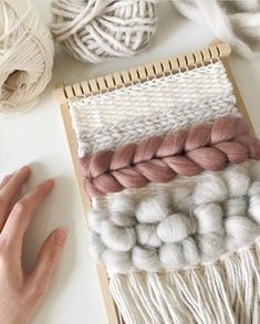 { wall hanging } Weaving Textiles, Tapestry Weaving, Loom Weaving, Hand Weaving, Weaving Wall Hanging, Wall Hangings, Yarn Wall Art, Peg Loom, Weaving Projects