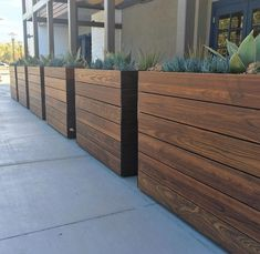 Tall Planter Boxes, Large Wooden Planters, Outdoor Planter Boxes, Diy Wood Planters, Large Outdoor Planters, Deck Planters, Rectangular Planters, Modern Planters, Indoor Planters