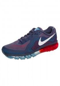 Beste Nike Air Max 2014 Heren Hardloopschoenen Middernacht Marineblauw Blauw Rood Wit Online Winkel