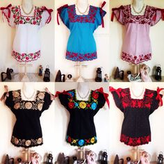 Blusas bordadas yucatecas, visita nuestra página Itzamara