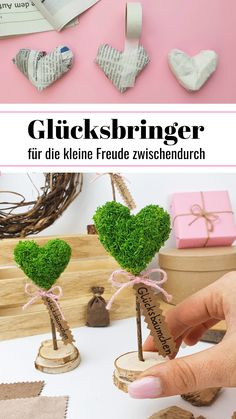 Birthday Diy, Recycled Art, Diy Projects To Try, Flower Decorations, Heart Shapes, Diy And Crafts, Best Gifts, Presents, Place Card Holders