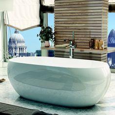 Synergy Pebble Modern Double Ended Bath 1700mm Love this bath.  www.bathshop321.com