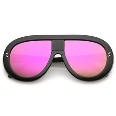 Purchase Oversize Chunky Teardrop Shape Mirrored Flat Lens Aviator Sunglasses from SunglassLA on OpenSky. Top Sunglasses, Mirrored Sunglasses, Sunglasses Women, Magenta, Purple, Blue, Yellow Mirrors, Standing Mirror, Black Silver