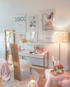 Pink Room: 60 projects to inspire you today - Home Fashion Trend Bedroom Decor For Teen Girls, Room Ideas Bedroom, Teen Room Decor, Small Room Bedroom, Cute Room Decor, Aesthetic Room Decor, Stylish Bedroom, Cozy Room, Dream Rooms