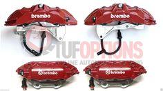 Ford FPV GT-P RED Brembo FG 6 Piston FRONT & 4 Piston REAR Caliper & Pad Set