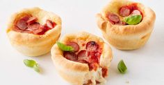 The kids will love these mini deep dish pizzas, made with homemade pizza dough and filled with baby bocconcini.