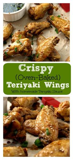 Fire up the oven for these Crispy Baked Teriyaki Chicken Wings that are simple to make with ingredients already in your pantry. Pair this with a simple homemade Teriyaki Sauce better than any bottled sauce I've ever tried.