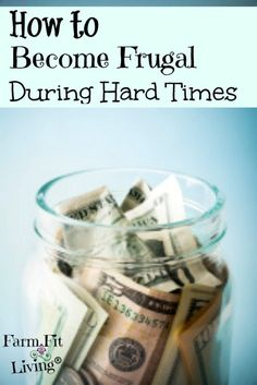 Prepare for hard time by learning to become frugal. There's different ways to save and still live a good life. Here are some ways live a good frugal life. Life On A Budget, Living On A Budget, Frugal Living Tips, Frugal Tips, Simple Living, Ways To Save Money, Money Tips, Money Saving Tips, How To Make Money