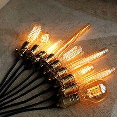 CMYK Glühbirne im Vintage-Stil (nach Edison, Schleifen-Filament), E27-Gewinde: Amazon.de: Beleuchtung