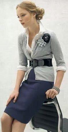So classy with the pencil skirt and cardigan! #personalbrand #workattire www.cynthiawhiteandassociates.com