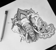 Up for grabs. #elephanttattoo #elephant #iblackwork #blackworkers_tattoo…