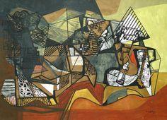 Pinturas em tecido de Burle Marx são expostas em SP