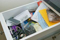 "Organizing your ""junk drawer"""