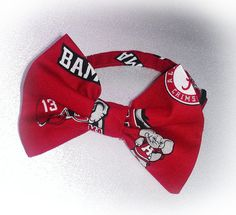 Bow Tie Pet Collar - Alabama Crimson Tide
