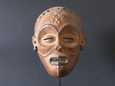 Mwana Pwo mask from the Chokwe, Dr Congo. Represents a young elegant woman
