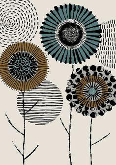 print Printmaker Floral, limited edition giclee print - Graphic artist floral limited edition giclee print by EloiseRenouf - Graphic Prints, Graphic Design, Art Prints, Main Image, Motif Art Deco, Art Africain, Design Graphique, Doodle Art, Textile Art