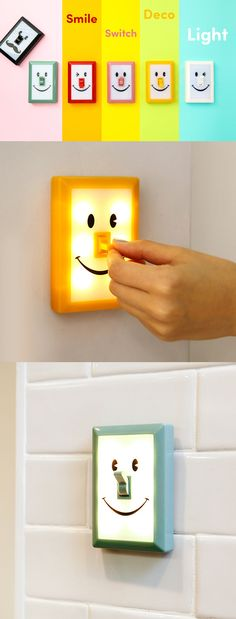 What a great way to keep the light on all the time! Here is a sure way to make your kids and you big kids excited about night lights again: the Smile Switch Deco Light! Learn more today by clicking the image!