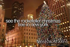 See the Rockefeller Christmas Tree in New York