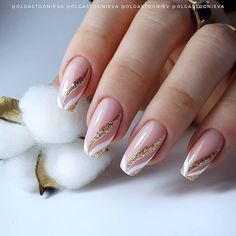 Sparkly Nails, Fancy Nails, Cute Nails, French Acrylic Nails, Cute Acrylic Nails, Stylish Nails, Trendy Nails, Elegant Touch Nails, Work Nails