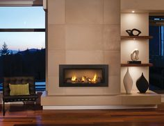 Valor L1 Linear Fireplace - contemporary - Family Room - Other Metro - CJ's Home Decor & Fireplaces