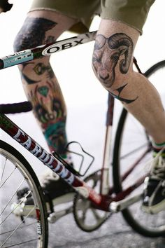 Tattoo Lust: Bikes & Tattoos | Fonda LaShay // Design → more on fondalashay.com/blog