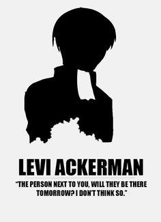 levi attack on titan snk minimalist posters