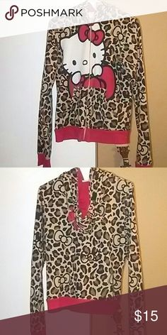 Hello kitty jacket Good condition i just dont wear it anymore. Has ears and bow on hood. Tight fitting but stretchy. Smoke friendly home Hello Kitty Sweaters