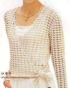 Crochet sweater dress pattern buttons 51 New ideas Crochet Saco, Pull Crochet, Crochet Coat, Crochet Shirt, Crochet Jacket, Crochet Cardigan, Crochet Clothes, Knooking, Sweater Knitting Patterns