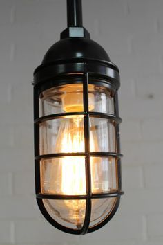 festoon lighting with cage vintage - Google Search