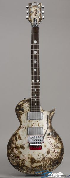 """ESP ECLIPSE RICHARD Z KRUPSE of RAMMSTEIN SIGNATURE CUSTOM GUITAR  """"The World's No:1 Online Heavy Metal T-Shirt Store"""". Check it out our Metalhead Clothing and Apparel Store, Satanic Fashion and Black Metal T-Shirt Stores; www.HeavyMetalTshirts.net"""