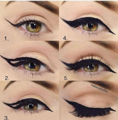 Trendy Eye Makeup Tutorial Step By Step Huda Ideas - - Trendy Eye Makeup Tutorial Step By Step Huda Ideas Make Up Makeup Tutorial Step By Step, Makeup Tutorial Eyeliner, Makeup Eyeshadow, Eyeshadows, Eye Makeup Steps, Natural Eye Makeup, Rockabilly Make Up, Rockabilly Makeup Tutorial, Hooded Eye Makeup