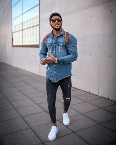 Urban Fashion, Boy Fashion, Mens Fashion, Casual Trends, Men Casual, Trendy Mens Jeans, Cute Swag Outfits, Casual Outfits, Outfits Con Camisa