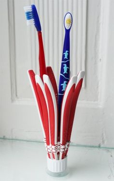 A creative way to use old toothbrushes. #sponsored
