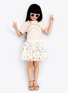 Stella McCartney Kids Honey Girls Polka Dot Tulle Skirt