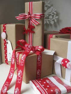 Christmas gift wrap and ribbon pack