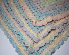 Crocheted Baby Girl, Baby Boy, Chunky, Playmat, Baby Afghan, Baby Blanket, Crib Size, Toddler, Child, Lap Afghan