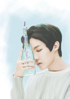 Memories crumble like dried flower petals, #bts #btsjhope #junghoseok #btsfanart #fanart #digitaldrawing #portrait