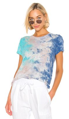 Shop for Michael Lauren Gunter Tee in Galaxy Wash at REVOLVE. Pop Fashion, Womens Fashion, Rebecca James, The Girl Who, Revolve Clothing, Summer Looks, Tees, Shirts, Model