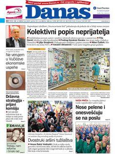 Dnevni list Danas | Naslovna