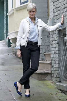 trends come and go, but true style is ageless — <outfit post> chambray and pearls: denim...
