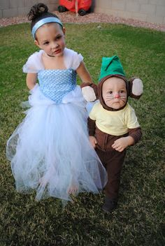 For c and Ike: Cinderella and Gus Gus or maybe Anna and Olaf, tiana and Louis, mulan and mooshu, Hercules and Phil, this will def. make Halloween more fun!