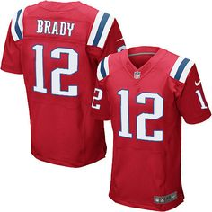 New Men s Red NIKE Elite New England Patriots  12 Tom Brady Throwback NFL  Jersey  89012ce3f