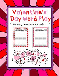This is a game for your literacy center. Students use the letters in words to make new words. You have 2 sheets to choose from: Valentine's Day and February Fourteenth. Includes letters and record sheet for each activity.  Product Includes  31 3 X 3.3 Letter squares  5 Blanks Letter replacement squares  2 Record Sheets   Includes directions and terms of use!