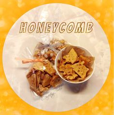 Honeycomb in gift bags - great idea for an edible Christmas present