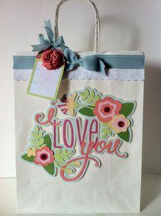 Courtney Lane Designs: gift tag made using the Art philosophy cartridge #Cricut