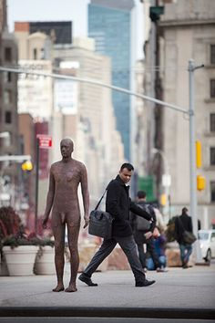 Antony Gormley: Antony Gormley sculpture in New York